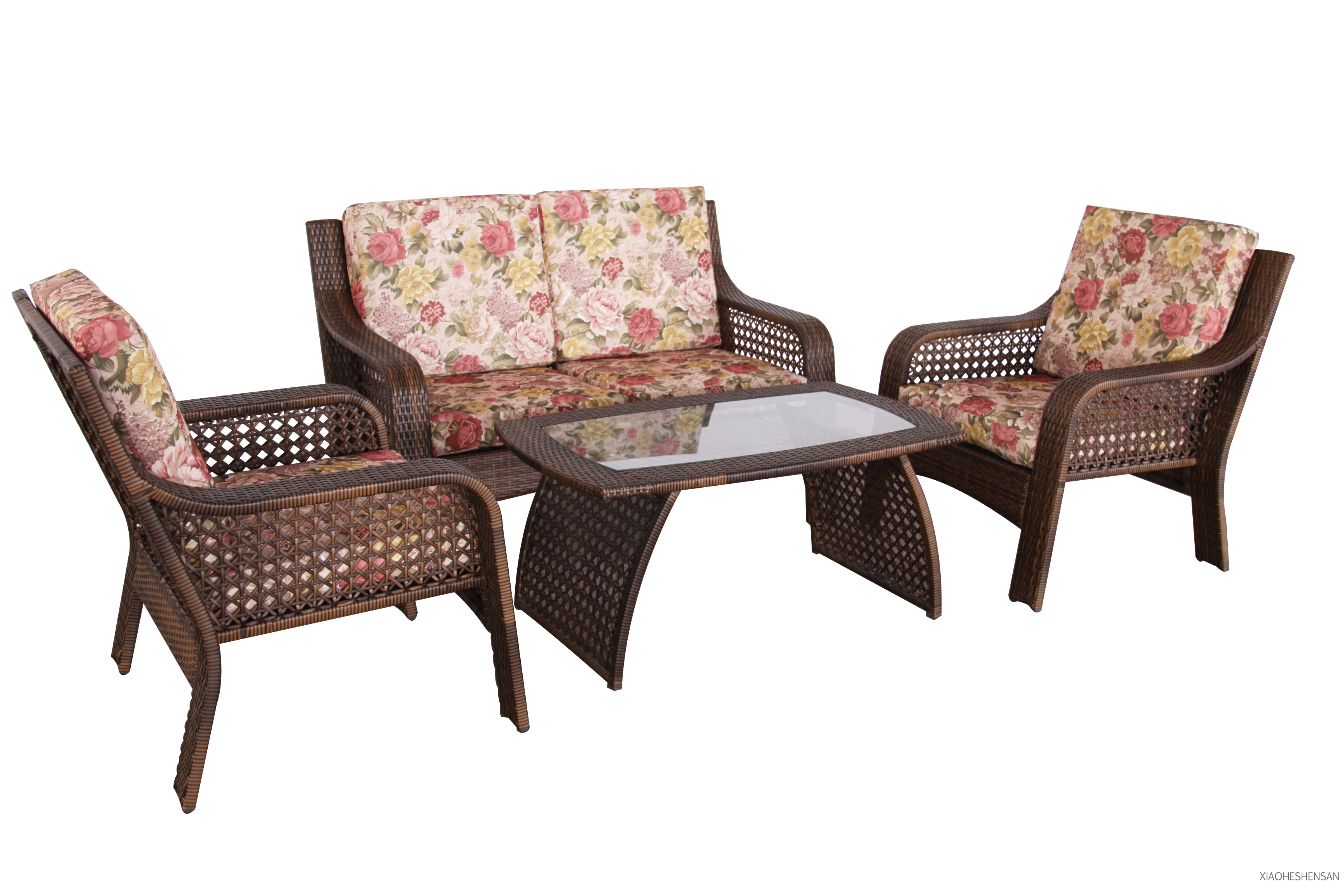 outdoor furniture rattan set table chair double sofa single sofa